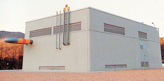 Cabina per decompressione gas-metano