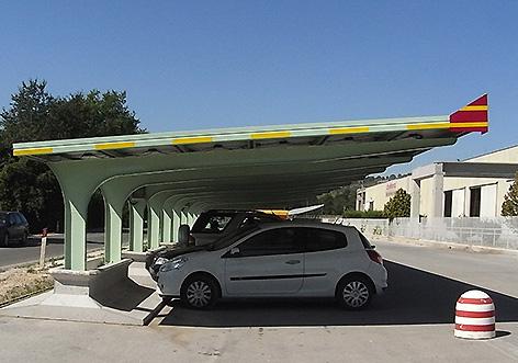 Sede Cemeco, San Severino Marche (MC) - Covercar fotovoltaico
